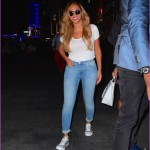 Beyonce Goes Casual in Jeans and Sneakers Picture