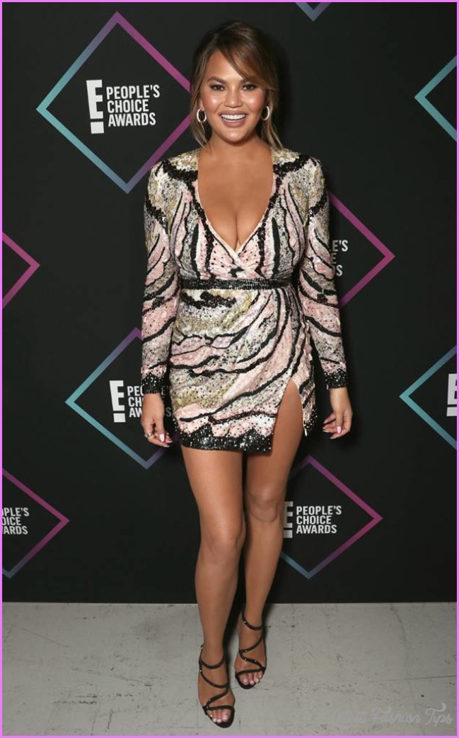 Chrissy Teigen from Best Dressed at People's Choice Awards 2018