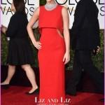 Jennifer Lawrence Red Prom Dress Golden Globes 2018