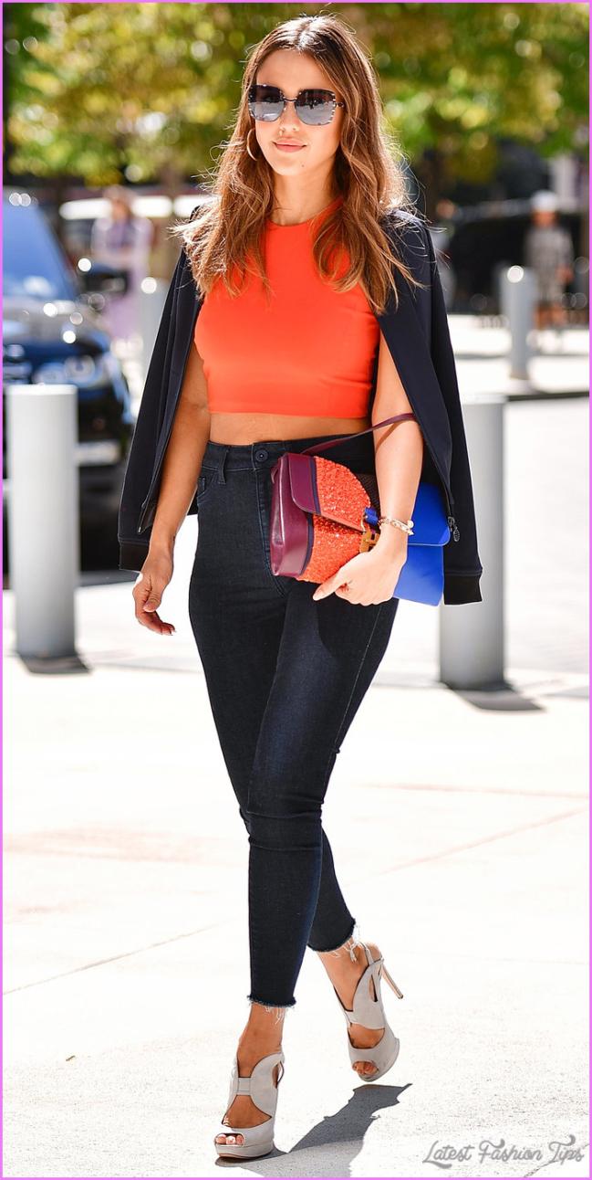 Jessica Alba's Chic Street Style