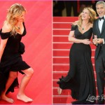 Julia Roberts goes barefoot on Cannes red carpet