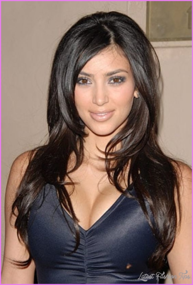 Kim Kardashian Different hairstyles