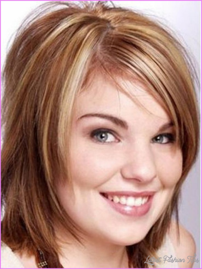 short hairstyles for round chubby faces