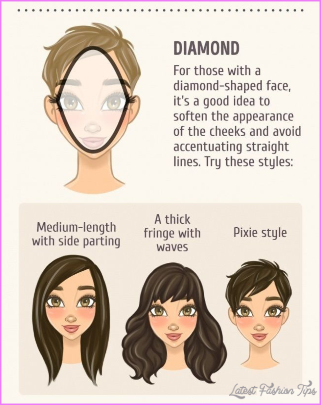 New Best Short Hairstyle for Diamond Shaped Face