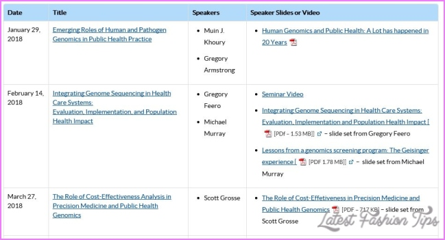 2018 Yearlong Seminar Series in Public Health Genomics | | Blogs | CDC