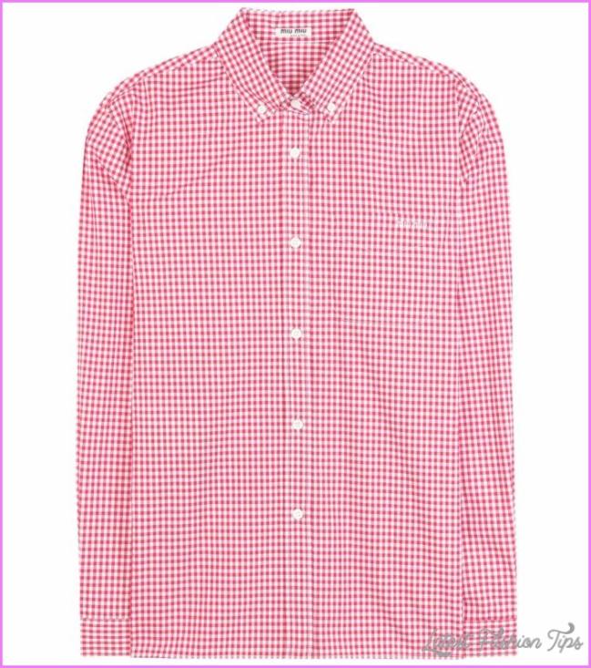 Check cotton shirt - Miu Miu - Designers - Luxury Fashion for Women ...